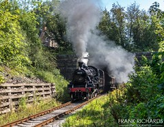 78018   Duffield Tunnel   25th August '19 (Frank Richards Photography) Tags: 78018 2mt duffield tunnel wirksworth railway uk england derbyshire steam smoke nikon d7100 bank holiday weekend sunday 25th august 2019 gcr ecclesbourne valley standard2