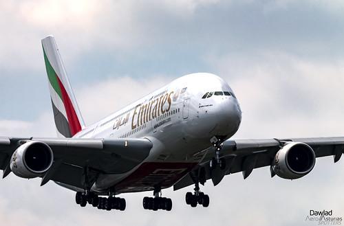A380 en aproximacion final a Schiphol