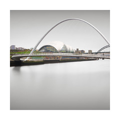 Arch (GlennDriver) Tags: long exposure minimal fineart black white bw bn2 blackandwhite canon nd architecture bridge water river tranquil building square