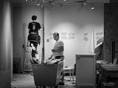 """Renovation"" (Terje Helberg Photography) Tags: bw blackandwhite bnw candid citylife cityscape citywalk employee mono monochrome people street streetphotography streetlife urban work working"