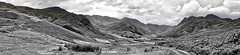 (D U B L) Tags: lake district bw pano panorama great langdale landscape clouds hills valley road england uk cumbria