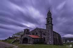 Iglesia y nubes (JoseQ.) Tags: iglesia nubes muxia galicia onstruccion arquitectura costadamorte cielo colores verde primavera
