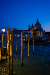 Venice, Italy. (suebr) Tags: venezia italia été tourisme venise ville voyage italie august 2019 summicrontl23mmf2asph leicacldigital leica tourism travel summer europe italy venice gondola gondole detail architecture water canal city italian twilight bluehour blue evening gondolaparking