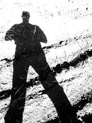 Just my shadow. (ALEKSANDR RYBAK) Tags: тень свет солнечный день лето сезон монохромный поле трава пахота shadow shine solar day summer season monochrome field grass plowing black white