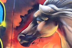Graceful Horse (ewgqlbhd11) Tags: horse grace mane fly smoke head canon200d streetscape streetphotography streetart streetartist flow perth wa cbd