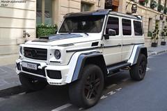 Brabus G500 4X4² (Monde-Auto Passion Photos) Tags: voiture vehicule auto automobile mercedes g500 4x4 brabus blanc white sportive rare rareté france paris