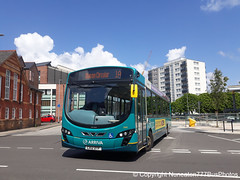 CX12DTF 3144 Arriva Buses Wales in Chester (Nuneaton777 Bus Photos) Tags: arriva buses wales wright pulsar cx12dtf 3144 chester