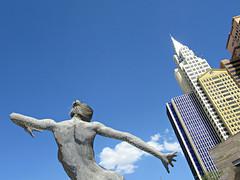 """Bliss Dance"" (kenjet) Tags: bliss dance art sculpture marco cochrane marcocochrane blissdance vegas lv lasvegas nv thepark park newyorknewyork lady cloud clouds hotel building structure"