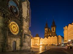 Prague (Yann OG) Tags: prague praha czechrepublic républiquetchèque bluehour heurebleue placedelavieilleville staroměstské náměstí grandangle wideangle cityscape église architecture dawn aube