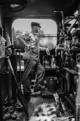 Aged But 2019 Action (WorcesterBarry) Tags: blackwhite bnw blackandwhite places people photographers portrait travel transport adventure monochrome mono vintage candid outdoors old trains lovebw kindness light youth ruddington