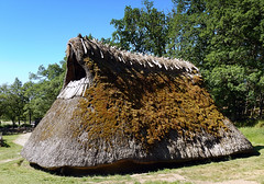 Thatched roof in a recreation of a Bronze Age village in Tanum, Sweden (albatz) Tags: thatched roof recreation bronzeage village tanum sweden