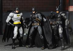 Batman Trio (Pipe_Toys) Tags: batman pipetoys actionfigures justiceleague