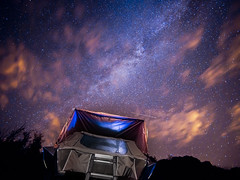 Milky way nightscape (2086cumbria) Tags: olympus em10 mk iii laowa 75mm f2 iso 2000 20 seconds exposure lake district cumbria uk england sky night milky way car camping duopod tent roof ladder clear clouds single image micro four thirds c dreamer joby tripod galaxy wild long