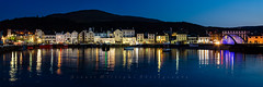 Ramsey Harbour. (cabmanstu) Tags: ramsey harbour reflections blue hour boats dusk panorama quayside nikon