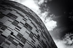 New wave (CrËOS Photographie) Tags: france lille sky blackandwhite bw abstract building architecture modern moderne ciel curve immeuble abstrait courbe