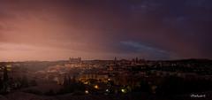 Sunrise, Toledo. (RikiAguilar) Tags: sun sunrise amanecer sol mañana early magenta toledo spain land landscape city ciudad castillalamancha alcazar luz blue sky clouds nubes