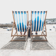 Relaxation in St Ives (paulbnashphotography (ARPS)) Tags: paulbnash paulbnashphotography street streetphotography streetphoto streetlife seascape urban urbanphotography color cornishphotographer cornwall cornish colour deckchairs deck chairs st ives beach sunny shadow