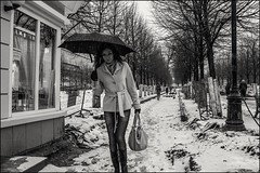 5_DSC4894 (dmitryzhkov) Tags: urban city everyday public place outdoor life human social stranger documentary photojournalism candid street dmitryryzhkov moscow russia streetphotography people man mankind humanity bw blackandwhite monochrome snow snowfall badweather