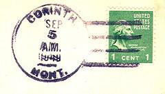 Corinth, Montana (Postmarks from Montana) Tags: montana corinth postmark postagestamp 1949 september5