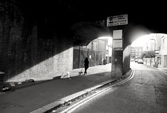 In case of emergency (S Clark) Tags: street streetlife streetphotography blackandwhite lightshadow shadows pug dogs tunnel urban urbanstories urbanlife rubbish fujifilm fujifilmxt100 london londonlife londonfields hackney eastlondon