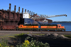 Rail n Sail with the Leitch (CN Southwell) Tags: bnsf john d leitch laker lake freighter superior duluth mn minnesota 2019