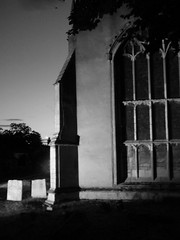 Night Time Illuminated St Mary's Church Over Aug 2019 A (Uncle Money UK) Tags: nighttime illuminated stmaryschurch over august 2019 black white blackandwhite graveyard