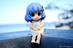 Bluebelle at the seaside (BookSmellLover) Tags: toyphotography jfigure kawaii cute cupochebelle japan collectible anime poseable seaside balticsea