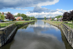The entrance to the Grenville Canal, in Grenville, Quebec (Ullysses) Tags: grenville quebec canada grenvillecanal warof1812 canal summer été royalengineers ottawariver rivièredesoutaouais canadianhistory