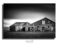Old Barn (wximagery) Tags: old blackandwhite bw farmhouse barn contrast rural countryside decay farm plains ruralamerica rurallandscape