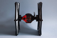 First Order TIE Fighter MOD (Edge of Bricks) Tags: lego star wars first order tie 75101
