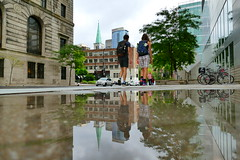 Sidewalk Puddle Reflection - Downtown Montreal Qc Canada (@mjmantis Montreal Urban Photos) Tags: montreal streetphoto canada urban reflection pedestrian urbanphotography mtl urbanshots citylife quebec cityscape puddle sidewalk downtown streetphotography explorecanada travelpics urbanphotos