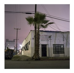 One palm  chemical corp. (ADMurr) Tags: la eastside night industrial mauve sky hasselblad 500cm 50mm zeiss distagon fuji pro 400 dba600