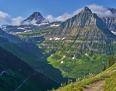 Morning on the Highline Trail (Valley Imagery) Tags: glacier national park mountain hiking highline trail summer blue nature usa protected sony a99ii 70400gii travel experience