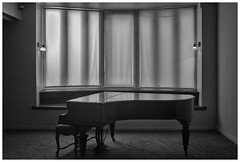 Paul Delvaux museum (marc.demeuleneire) Tags: bw piano music museum window