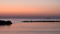 * Alba a Rimini * (argia world 1) Tags: argiagranuzzo rimini alba sunrise mare sea rocce rockr cielo sky