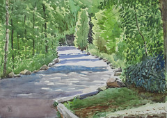 Morningside Park, Plein Air, 2019-08-30 (light and shadow by pen) Tags: landscape watercolor toronto art park