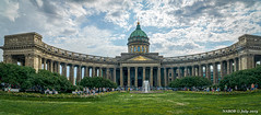 St Petersburg, Russia: Kazan Cathedral (nabobswims) Tags: cathedral church ilce6000 kazancathedral leningradoblast lightroom luminositymasks mirrorless nabob nabobswims orthodoxchurch panorama photoshop ru russia sel18105g sonya6000 stpetersburg