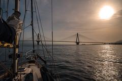 River crossing..... (Dafydd Penguin) Tags: river crossing rion bridge ionian sea water greece gulf patras corinth mediterranean aegean eu europe sail sailboat boat vessel yacht yachting cruise cruising leica m10 21mm super elmar f34 asph