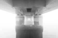 M2252622 E-M1ii 7mm iso200 f8 1_10s 1 (Mel Stephens) Tags: 20190825 201908 2019 q3 3x2 6x4 wide widescreen olympus mzuiko mft microfourthirds m43 714mm pro omd em1ii ii mirrorless gps grayscale uk scotland dundee tayside fog haar weather bw black white water river tay road bridge structure