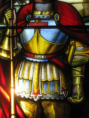 "Detail of the St George and the Dragon Window by Ferguson and Urie on the Stairwell of ""Tolarno"" - Fitzroy Street, St Kilda (raaen99) Tags: fergusonandurie fergusonanduriestainedglass fergusonurie fergusonuriestainedglass victorianstainedglass tolarno thetolarnohotel housename victorianhouse victorianmansion mansion victoriana hotel motel guesthouse accommodation stainedglass stainedglasswindow stainedglasswindows stgeorge saintgeorge saintgeorgeandthedragon stgeorgeandthedragon saint english british englishsaint chivalry dragon legend englishlegend fitzroystreet fitzroyst victorianstyle nineteenthcentury nineteenthcenturystainedglass window melbourne victoria australia domesticarchitecture house home architecture housing 19thcentury 1890s 1880s stkilda detail interior room stairwell staircase flower floral flora rose tudorrose unionjack branch leaves mirkamora gothicrevival valour armour armor gothicrevivalstainedglass gothicrevivalstainedglasswindow"