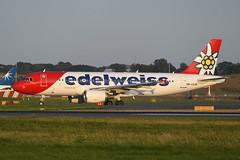 HB-JJL Airbus A320-214 EGPH 26-08-19 (MarkP51) Tags: hbjjl airbus a320214 a320 edelweissair wk edw edinburgh airport edi egph scotland airliner aircraft airplane plane image markp51 nikon d500 nikonafp70300fx sunshine sunny
