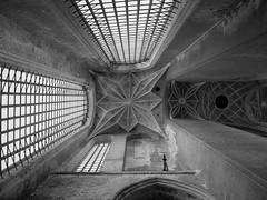 (TheOneShot (Gunnar Marquardt)) Tags: church blackandwhite bw window light dark old architecture stralsund germany travel panasonic lumix gx80 stmarien