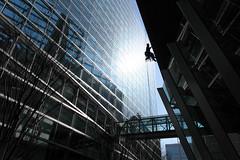Window cleaner (sumi!) Tags: tokyointernationalforum tokyo architecture glass building japan marunouchi conventioncenter