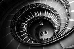 Spiral (radimersky) Tags: gx9 lumix panasonic micro fourthirds 43 museum vaticano vatican watykan rzym włochy italy spiral spirala exit schody stairs monochrome blackandwhite blackwhite bw art photography people day interior architecture architektura vario lumixgvario1260f3556 museivaticani dcgx9