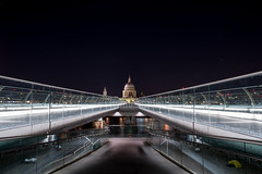 Under and over (Paul wrights reserved) Tags: london thames river londonunderground londonsights icon iconic buildings building iconicbuilding view scene night nighttime nightphotography nightscape detail water colour sky darksky longexposure leadinglines