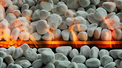 burning stones (heinzkren) Tags: color stones fire feuer dekor kamin kies flamme flame texture fireplace gravel orange abstract feuerstelle panasonic lumix gx8 innamoramento patterns indoor