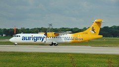 Stunning Aurigny ATR-72-600 prepares for departure on RNWY 23L. (Thomas Holmes (@Youngnclspotter)) Tags: atr72 aurigny airport manchester plane