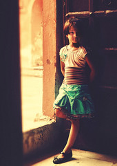 light & contrast .. (tchakladerphotography) Tags: portrait child girl colorful colors indoor light naturallight tinni