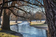 Winter View (orkomedix) Tags: canon 6d 24105f4l ef24105f4l munich germany englischer garten garden winter view eisbach water trees outdoor photowalk