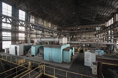 turbine hall (jkatanowski) Tags: urbex urban exploration europe decay derelict destroyed decaying decayed abandoned forgotten lost lostplace indoor industry industrial interior machinery machine steel mess metal sony a7m2 uwa 1740mm turbine turbines hall